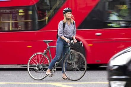 Someone crazy enough to cycle in London