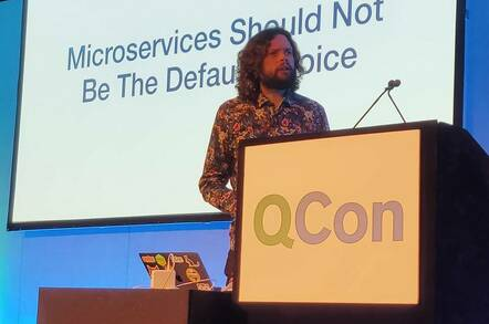 Sam Newman, speaking at QCon London