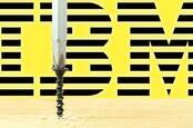 IBM logo behind a screw