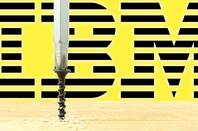 IBM logo behind a screw