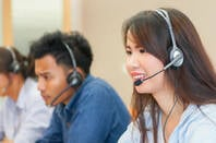 sales people with voip headsets on