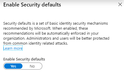 Basic security defaults can be set without Azure AD Premium