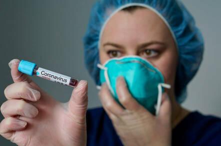 Mock-up of a coronavirus test