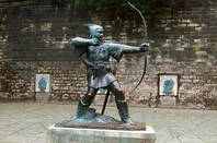 A statue of Robin Hood in the UK