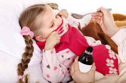 Sick child refuses medicine