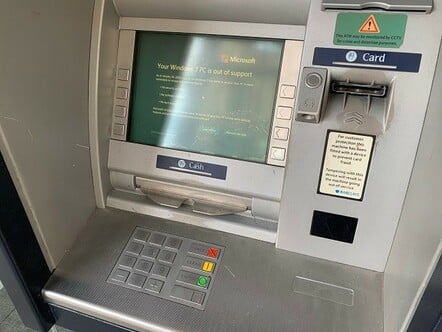 Barclays Aberdeen ATM (Windows 7 warning)