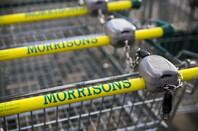 Morrisons supermarket trolley showing logo