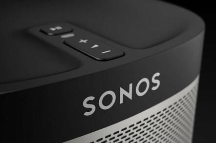 A Sonos smart speaker device