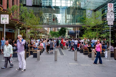 People in Sydney's Pitt Street, where the Office of the Australian Information Commissioner is located