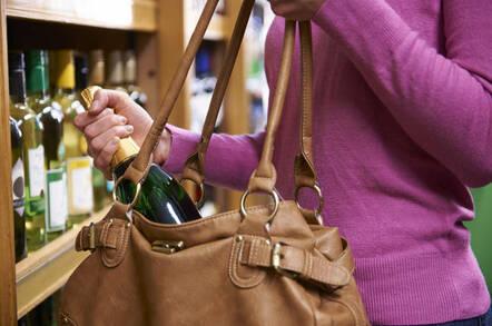 wine bottle in bag