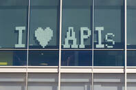 Sign saying I love APIs
