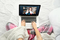 Using video conferencing in bed