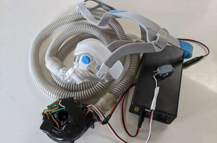 image of a DIY ventilator, by Johnny Lee Chung