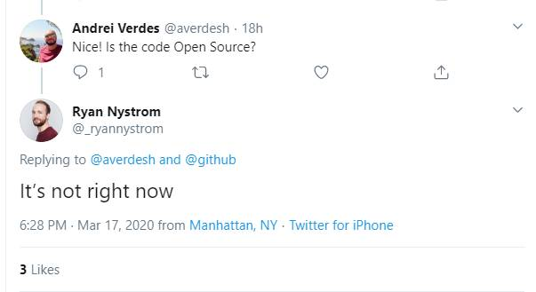 GitHub for mobile is not open source (yet)