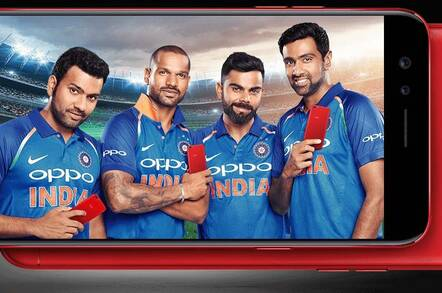 An Oppo promo for the Indian cricket team
