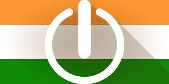 Indian flag with on/off symbol