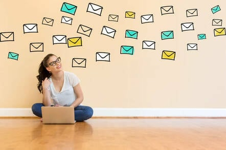 Someone observing a flood of email
