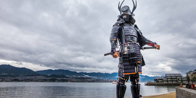 A samurai in Japan