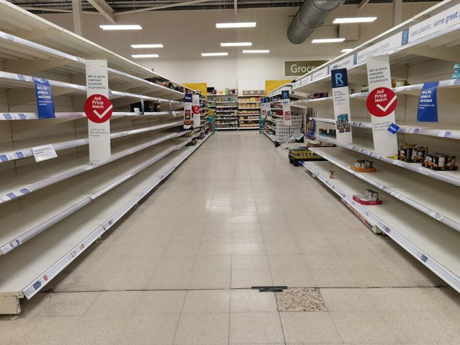 p40 - empty world foods aisle