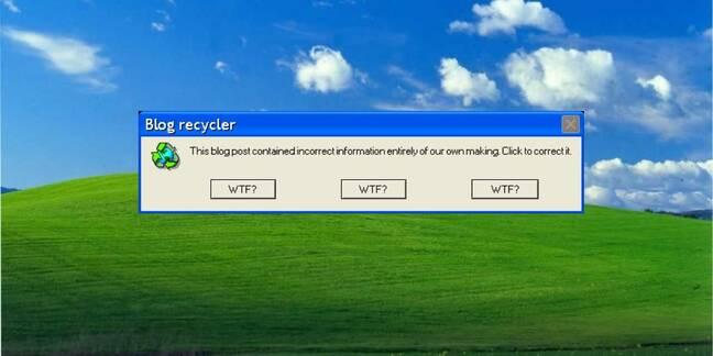 Microsoft error message