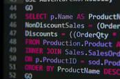 Screenshot of SQL statements