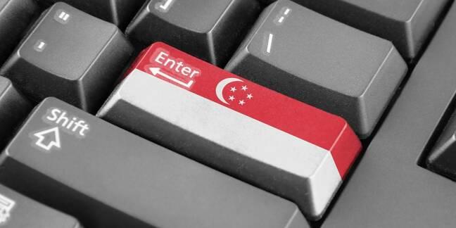 Singapore flag keyboard