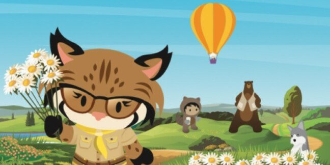 A spot-the-difference puzzle from Salesforce's kid-distraction resource