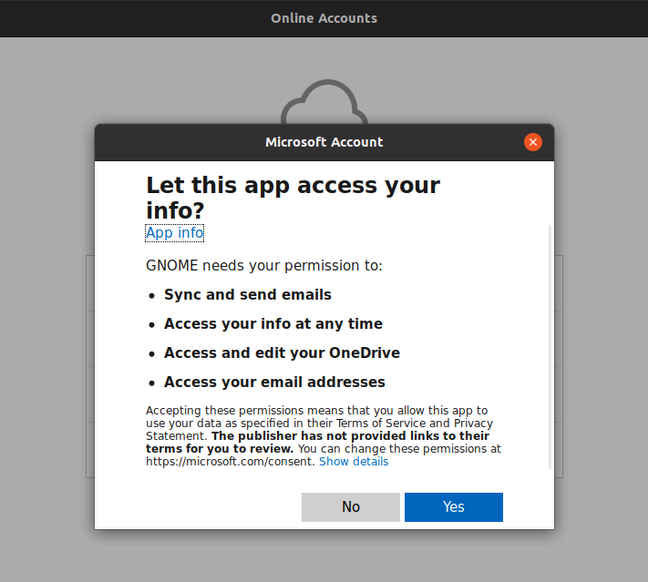 You can hook up Ubuntu to online accounts, but in this case with little benefit