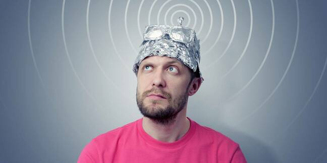 Swivel eyed loon in tinfoil hat
