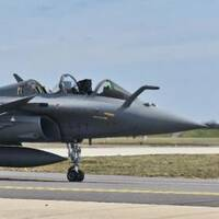 The Rafale-B jet from which the unfortunate Frenchman got to experience parachuting as well as flying