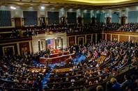Inside the US senate, filled with politicians and their families