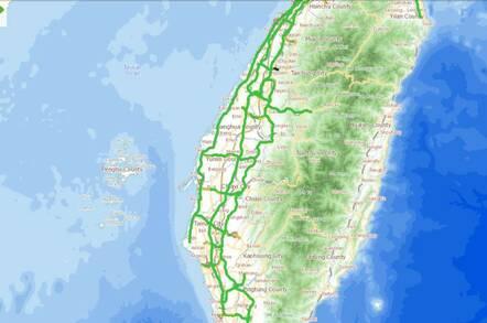 Taiwan's Freeway 1968 traffic advice web site