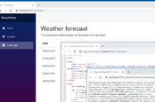 A Blazor app using WebAssembly