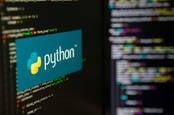 Python logo and code