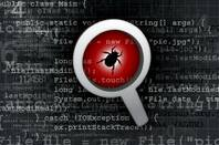 Illustration of a software bug under a magnifying glass