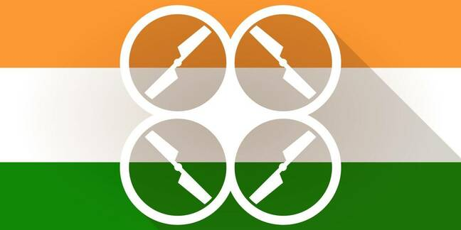 Indian flag drone