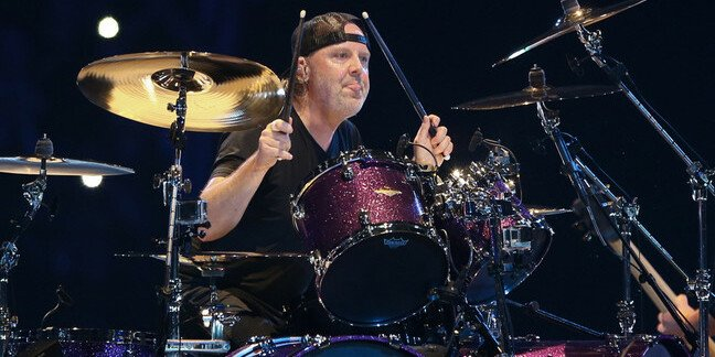 Lars Ulrich of Metallica in concert at Times Union Center in Albany, New York, 2018