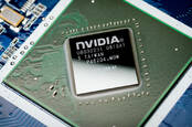 An Nvidia graphics processor chip