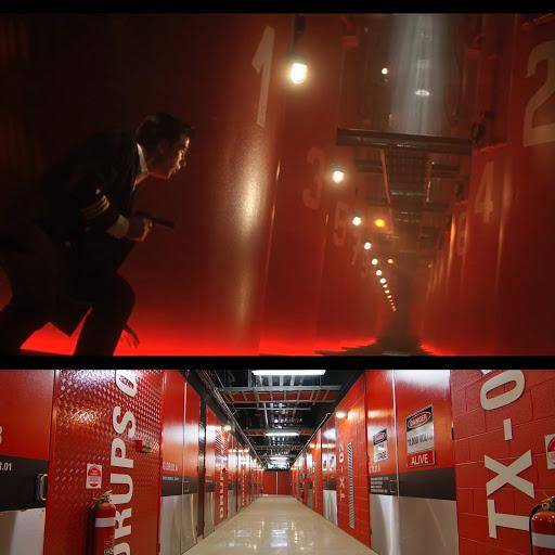 Above: a still from The Hunt For Red October: Below: NEXTDC's M1 bit barn in Melbourne, Australia