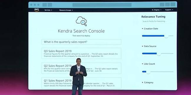 AWS VP Dr Matt Wood explains Kendra at the Re:Invent 2019 conference