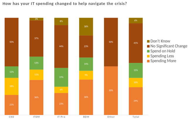 IT spending changes, by role