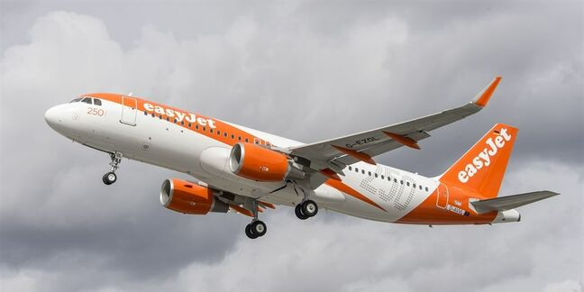 An Easyjet Airbus A320. Image supplied by Easyjet