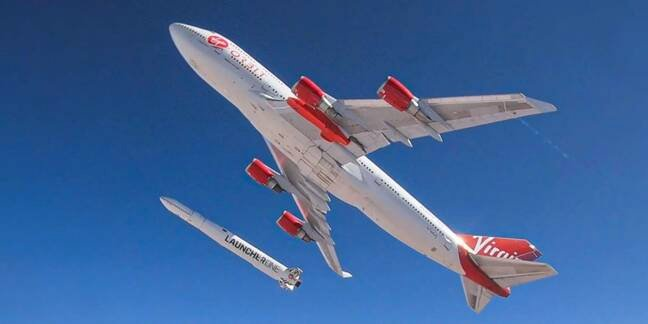 Cosmic Girl and LauncherOne (pic: Virgin Orbit)