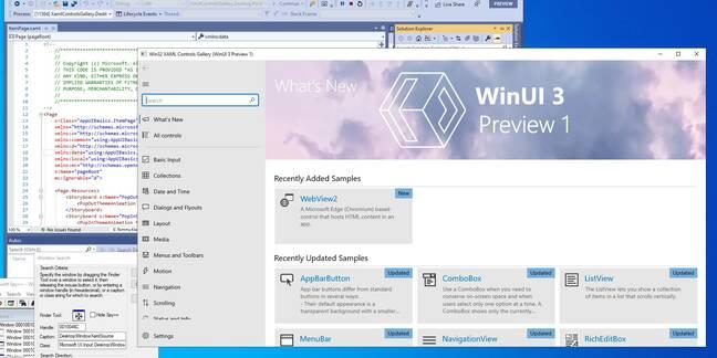 Aquí está: WinUI ejecutándose como una aplicación de escritorio Win32