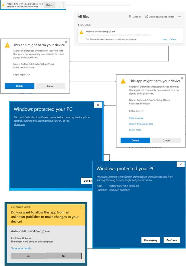 Seven steps to installing an unsigned application on Windows 10