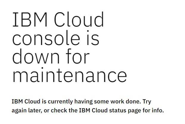 IBM cloud outage continues