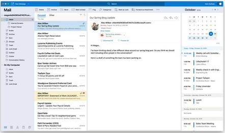 The new Outlook for the Mac in its first preview