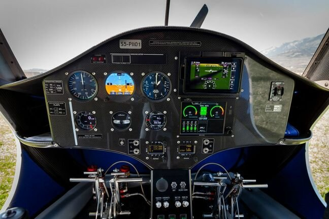 Pipistrel's Velis Electro cockpit. Press pic