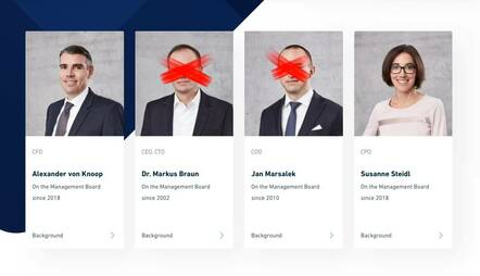 Wirecard executives, after departure of Braun and Marsalek
