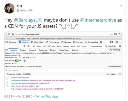 Tweet @Barclays